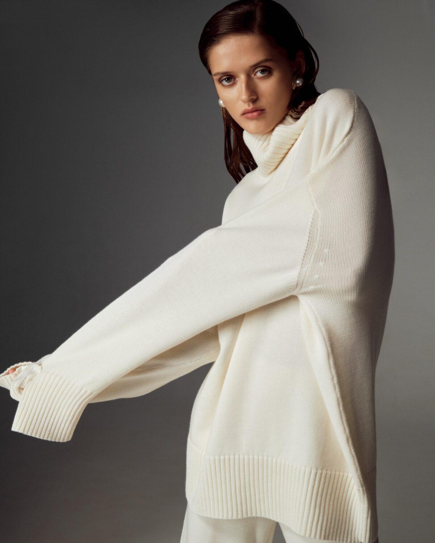 Milky merino wool suit