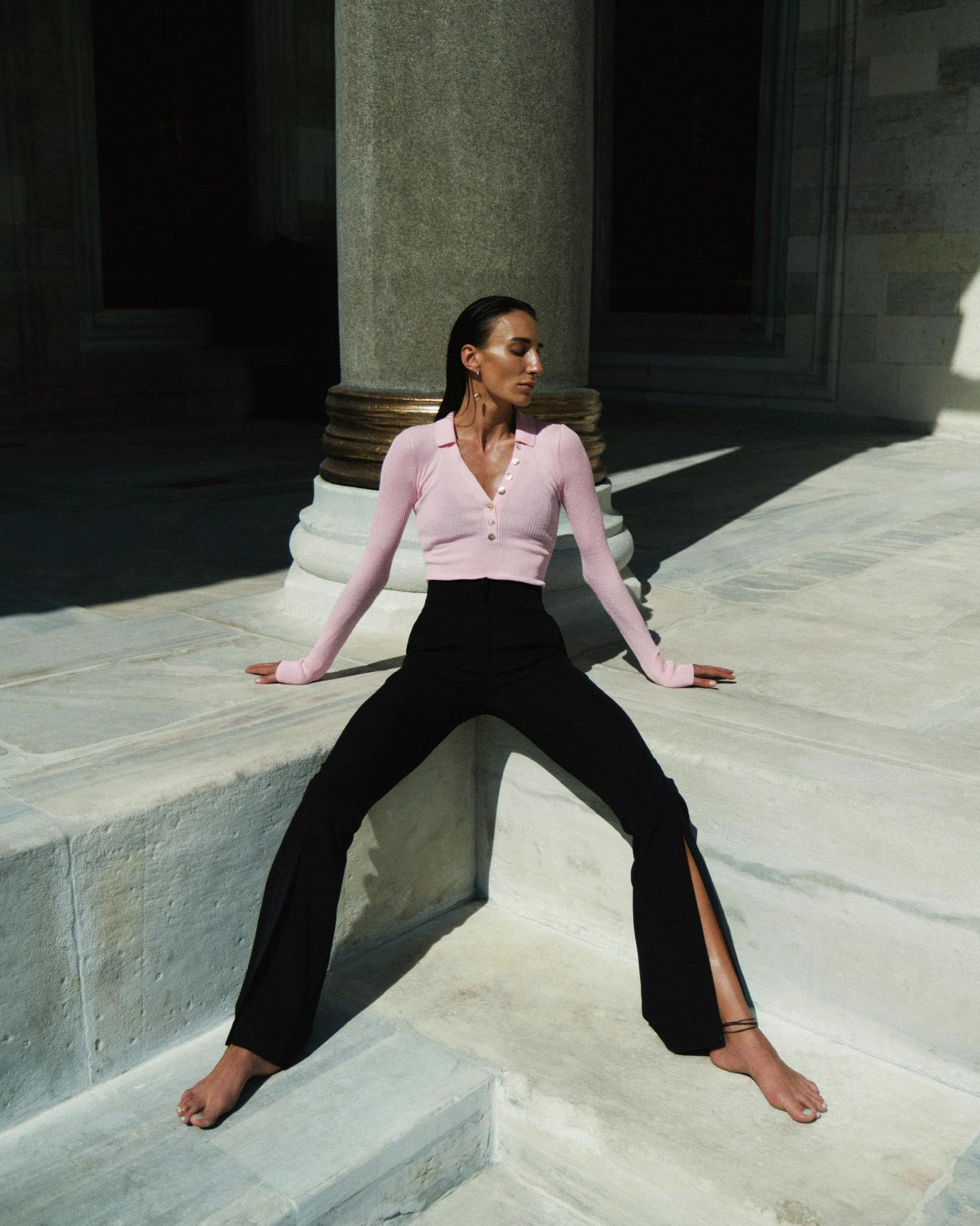 Pink Silk Polo