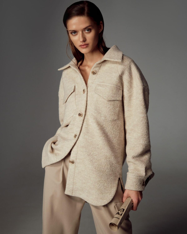 Salma oversize wool shirt