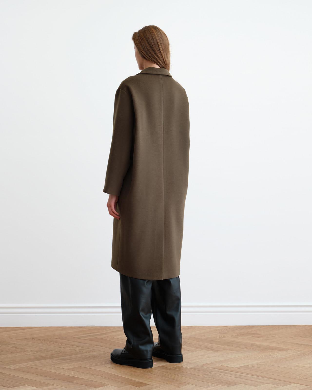 Khaki Wool Coat
