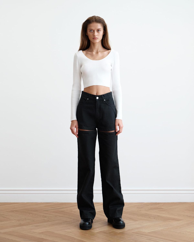 Knitted White Dana Top